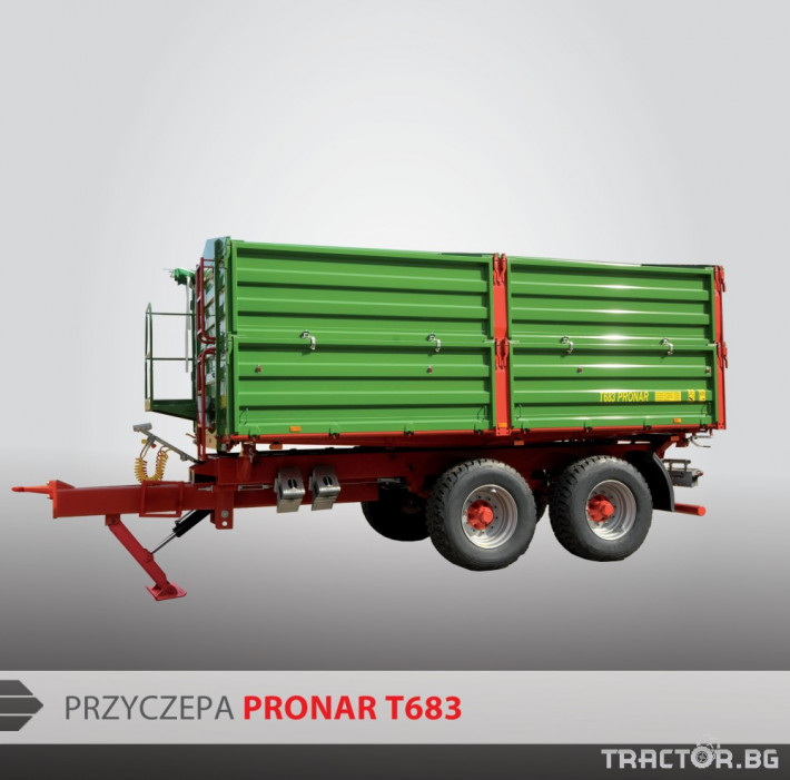 Ремаркета и цистерни PRONAR Т683 0 - Трактор БГ