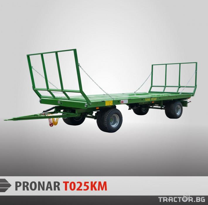Ремаркета и цистерни PRONAR Ремарке за превоз на бали 0 - Трактор БГ