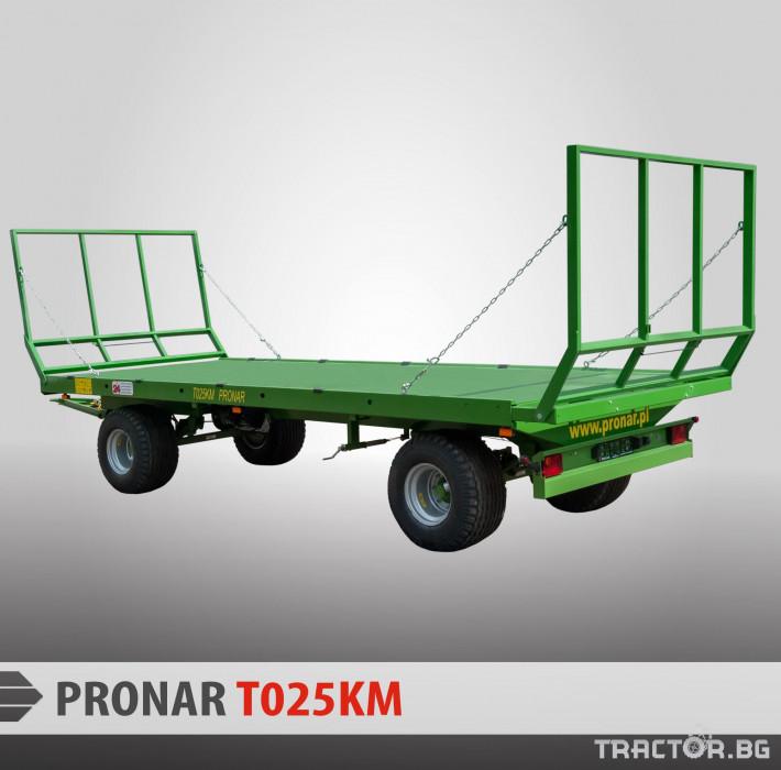 Ремаркета и цистерни PRONAR Ремарке за превоз на бали 1 - Трактор БГ